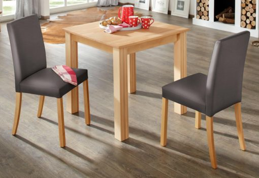 Bukowy stół kuchenny, kwadratowy 80x80 cm