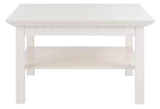 Praktyczny stolik kawowy, biały, sosnowy