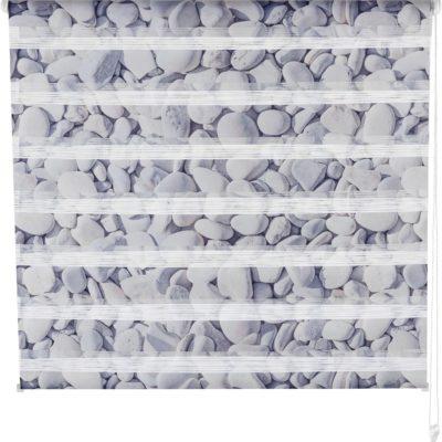 Roleta dzień-noc z pięknym motywem kamienia, 50x130 cm