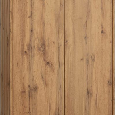 Dwudrzwiowa komoda z półkami, kolor dąb, styl prosty