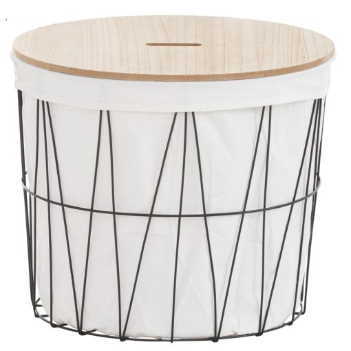 Ozdobny kosz na pranie lub stolik ze zdejmowanym blatem