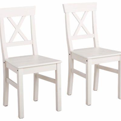 Sosnowe krzesła w pięknym stylu - 2 sztuki, białe