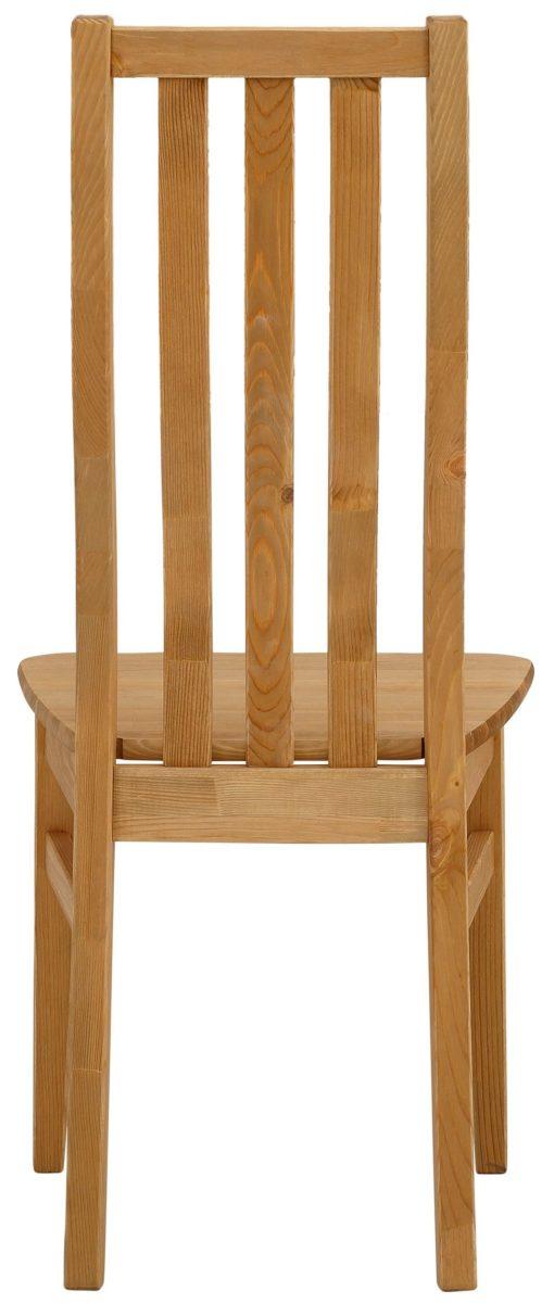 Sosnowe krzesła w prostym, rustykalnym stylu - 4 sztuki
