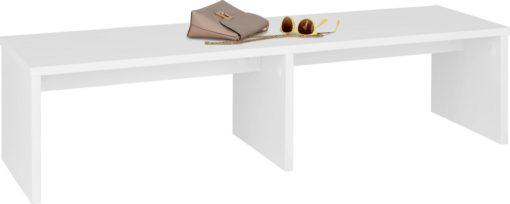 Minimalistyczna, biała ławka 140 cm, z sosny