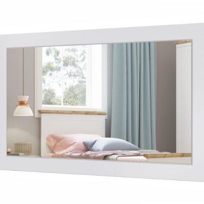 Minimalistyczne lustro w białej ramie 110x70 cm
