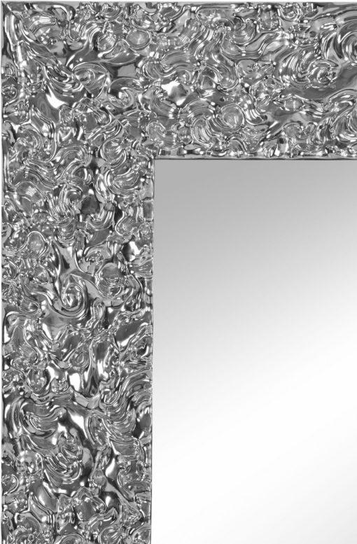 Lustro 71x111 cm w niezwykłej srebrnej ramie