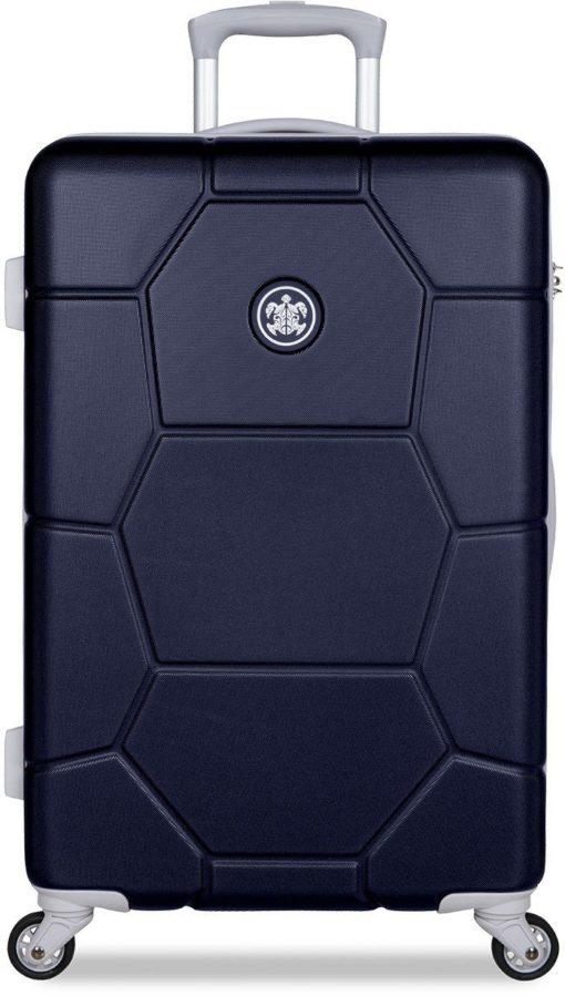 Twarda walizka z zamkiem szyfrowym, 65l, Midnight Blue