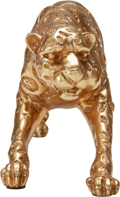 Złota figurka dekoracyjna z polyresiny Leopard