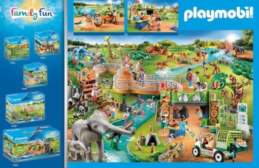 Playmobil Family Fun Moje ogromne ZOO, duży zestaw do zabawy