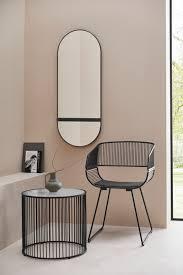 Metalowe, czarne krzesło LeGer Home by Lena Gercke