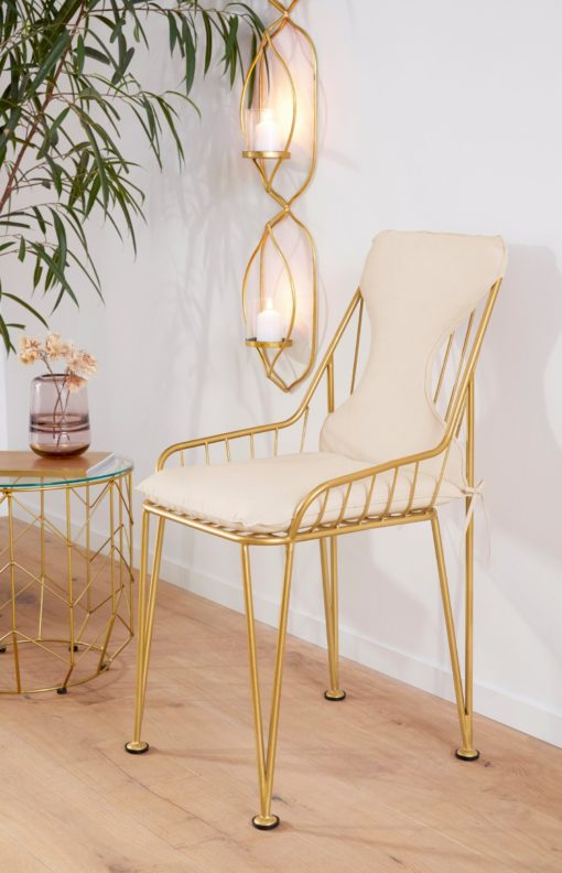 Szlachetny, złoty świecznik ścienny w orientalnym stylu