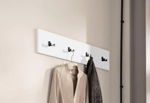 Smukły panel ścienny w wieszakami, biały