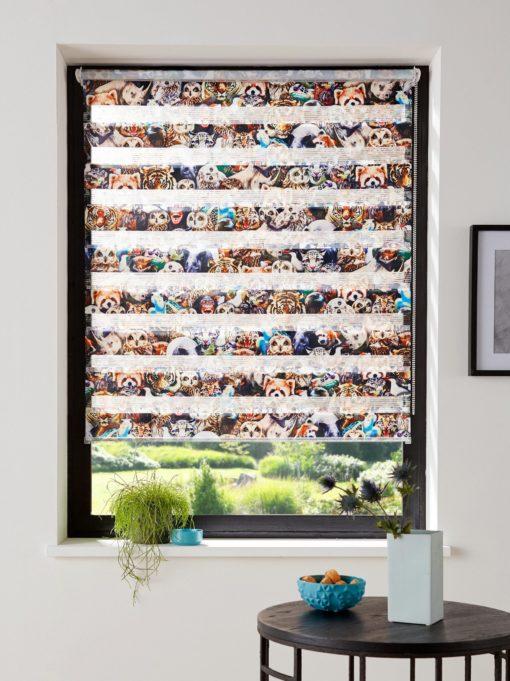 Roleta dzień-noc z motywem zwierzęcym, 50x150 cm