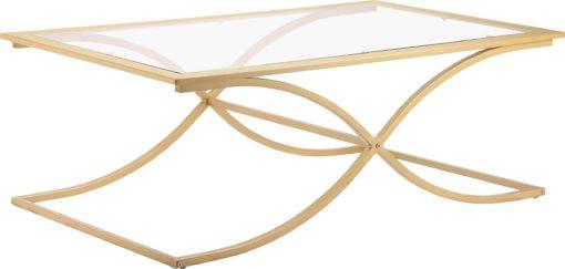 Szlachetny stolik do salonu, metal+ szkło, złoty