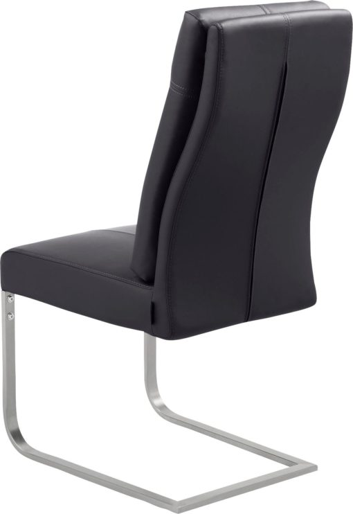 Niezwykle wygodne krzesła na płozach - 2 sztuki, czarne