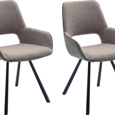 Obrotowe, melanżowe krzesła - 2 sztuki, nowoczesny design