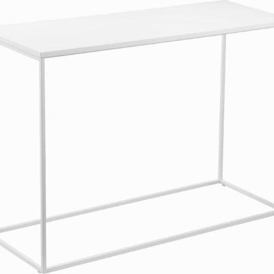Biała konsola w minimalistycznym stylu