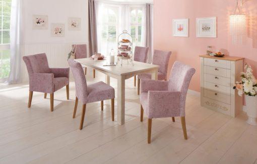 Eleganckie krzesła Queen w odcieniach różu - 2 sztuki