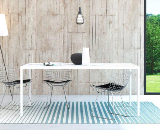 Purystyczny biały stół na metalowej ramie 180 cm