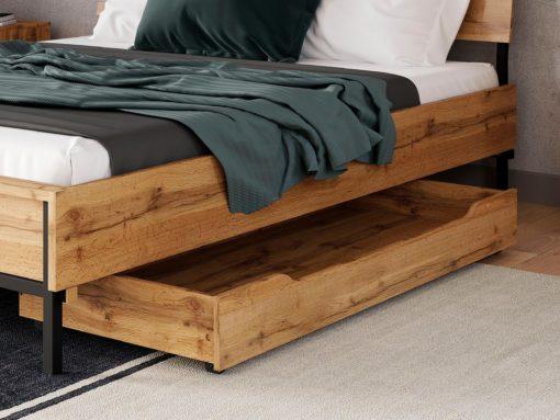 Szuflada pod łóżko na kółkach, kolor dąb