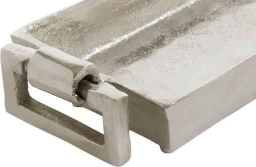 Nowoczesna taca dekoracyjna z aluminium