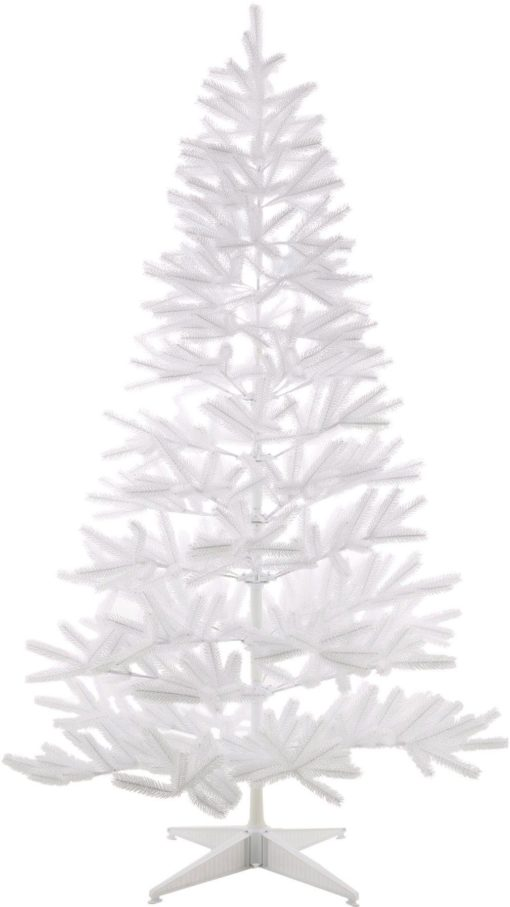 Biała choinka sztuczna jodła, 120 cm ze stojakiem