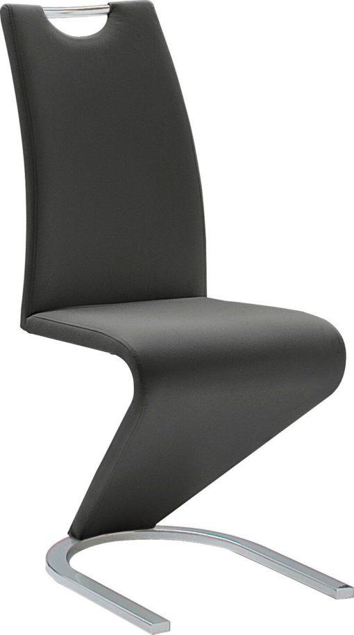 Nowoczesne krzesła w kolorze czarnym - 4 sztuki