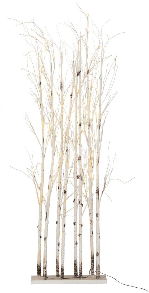 Dekoracyjne drzewka świecące z ciepłobiałymi diodami LED