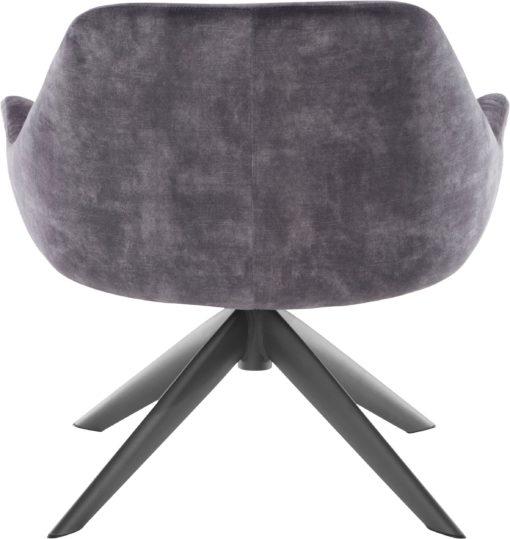 Ponadczasowy fotel w kolorze antracytowym , styl retro