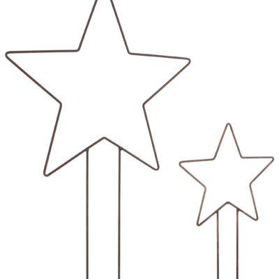 Dekoracyjne metalowe gwiazdy, dekoracje ogrodowe