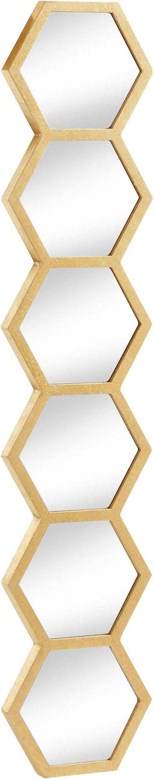 Złota dekoracja ścienna z elementami lustrzanymi