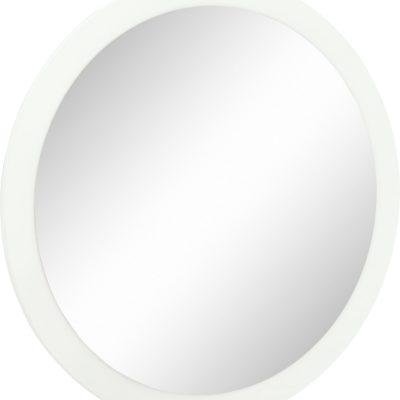 Okrągłe lustro na białej powierzchni, średnica 87 cm