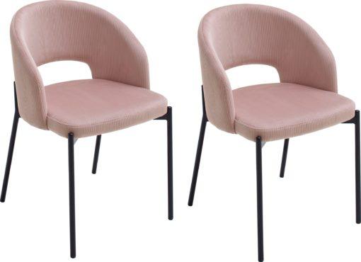 Szlachetne krzesła w odcieniach różu - 2 sztuki