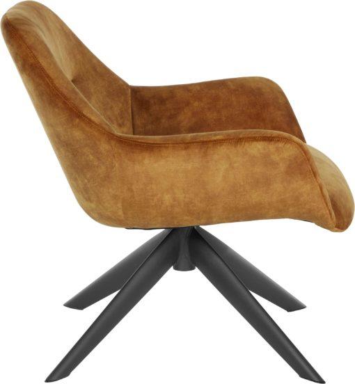 Ponadczasowy fotel w kolorze miedzianym , styl retro