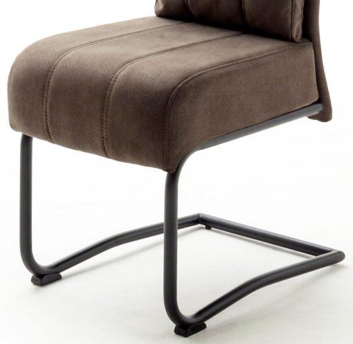 Piaskowe krzesła na metalowej ramie - 2 sztuki, sprężyny w siedzisku