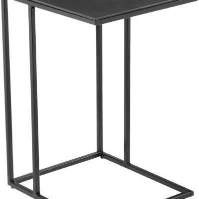 Stolik pomocniczy czarny w stylu industrialnym