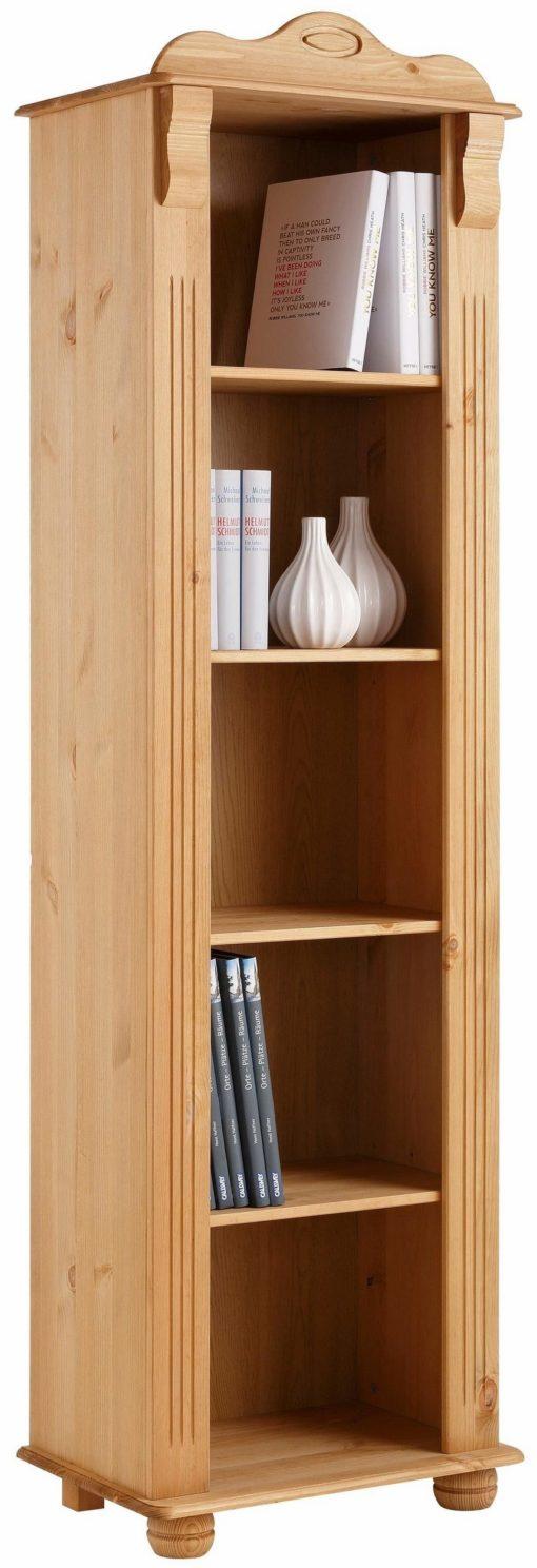 Piękny regał na książki z masywnego drewna, olejowany