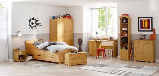 Sosnowa ławka/ skrzynia z klapą i rustykalnym frezowaniem