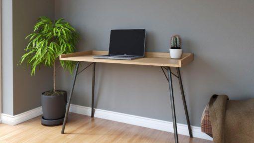 Minimalistyczne biurko w skandynawskim stylu, dąb
