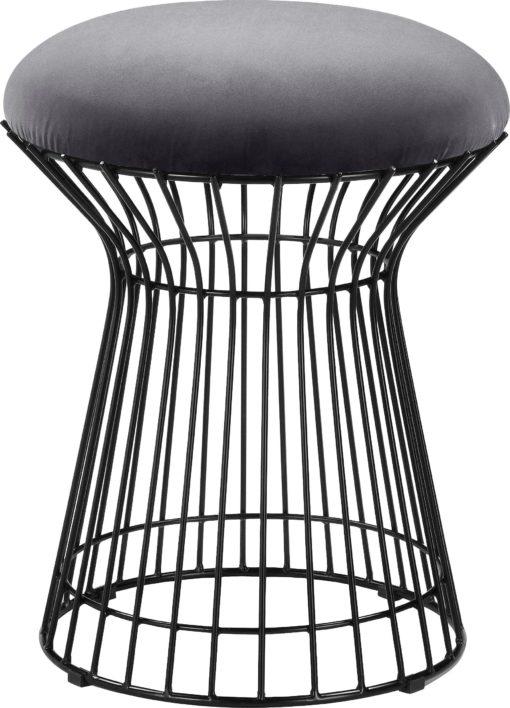 Szary hoker na metalowej ramie, industrialny
