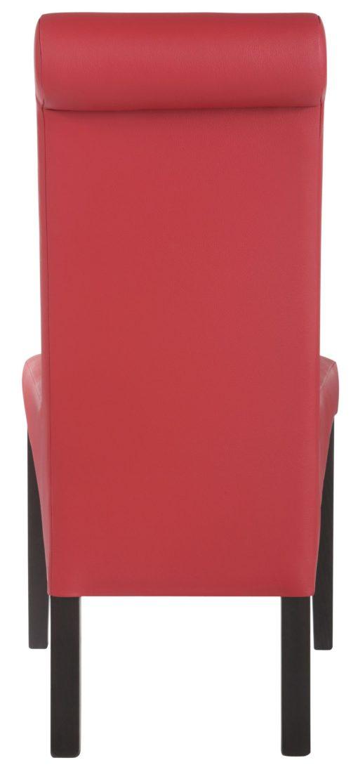 Eleganckie czerwone krzesła Rito w zestawie 4 sztuki