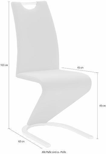 Białe krzesła na wsporniku Amado, sztuczna skóra - 6 sztuk