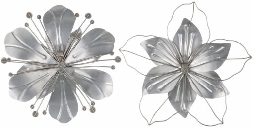 Dekoracja ścienna z metalu, z ornamentem z masy perłowej