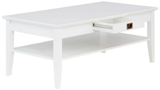 Stolik kawowy Piano z szufladą, szerokość 130 cm