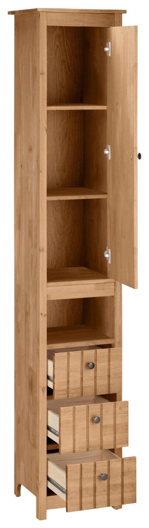 Wysoka szafka łazienkowa, słupek, olejowana