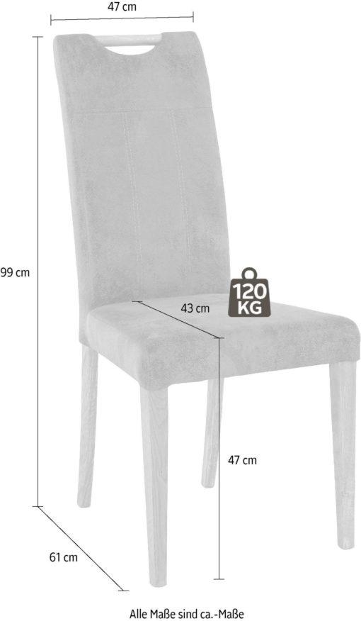 Dębowe krzesła ciekawie tapicerowane - 2 sztuki