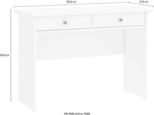 Konsola Paris z dwiema szufladami, biała, styl angielski