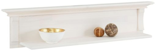 Półka ścienna wykonana z litej sosny, biała