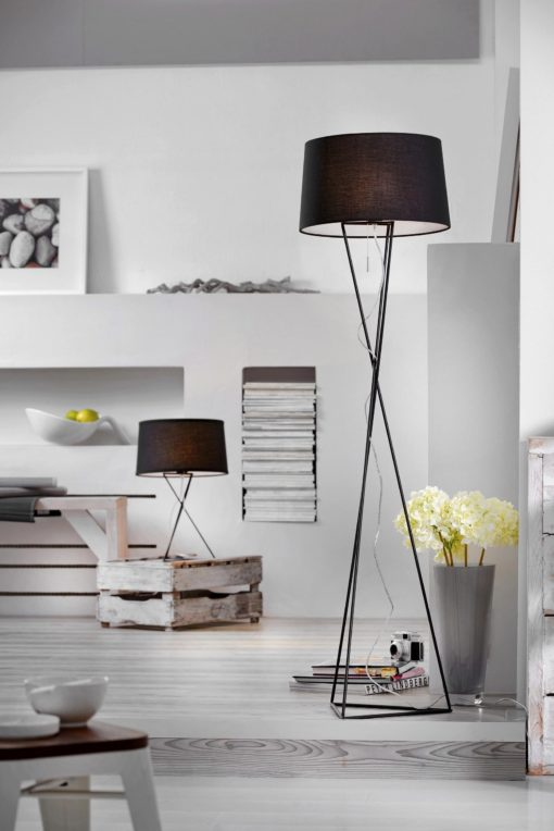 Modna lampka stołowa Nowy Jork, czarna Villeroy & Boch