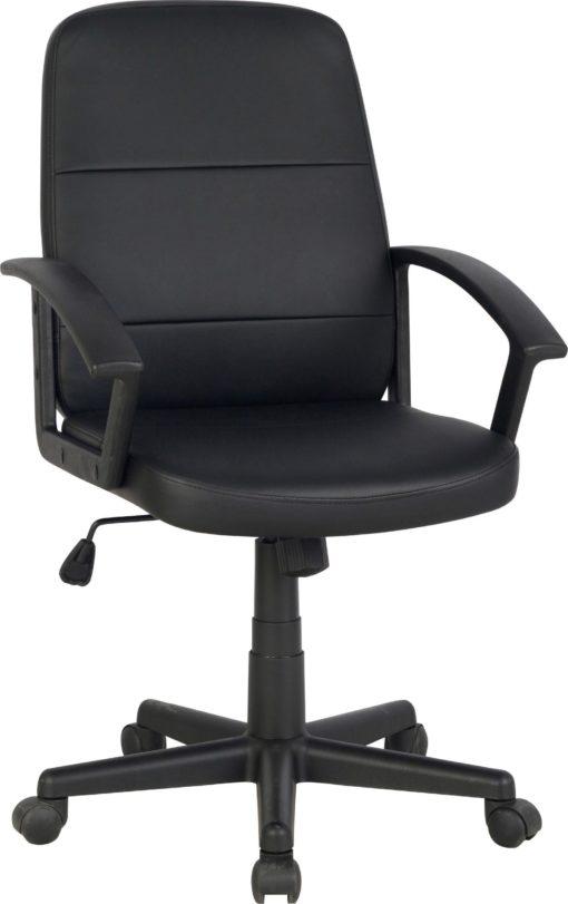 Krzesło obrotowe z regulacją wysokości, sztuczna skóra